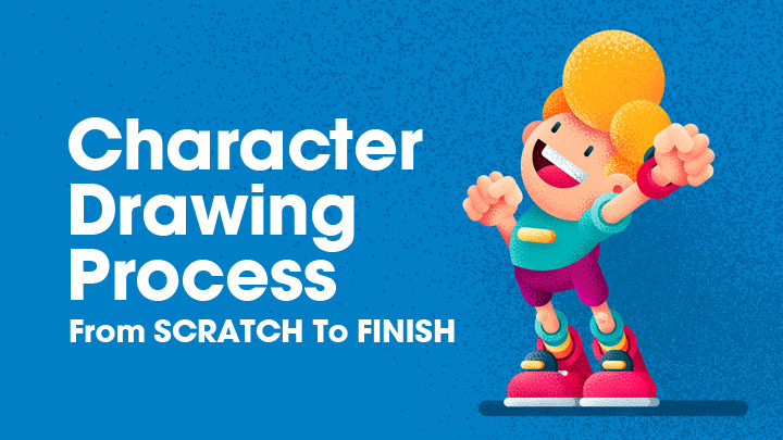 Character Drawing Process ( From SCRATCH To FINISH )